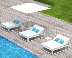 Tumbonas de resina para terrazas